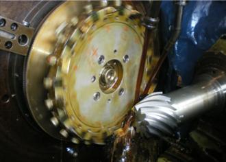 Teeth cutting of a spiral bevel gear