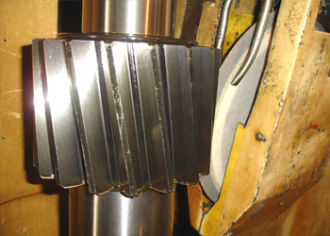 Teeth grinding of a helical gears