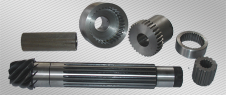 Manufacture of spline shafts, openings and compounds