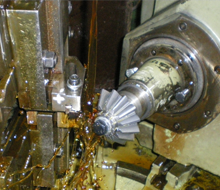 Straight bevel gear cutting